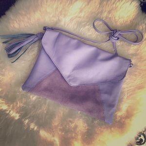 ASOS purple cross body leather lilac lavender